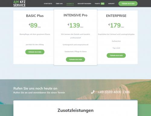 Webseite Layout Firmenseite Webdesign KFZ-Service