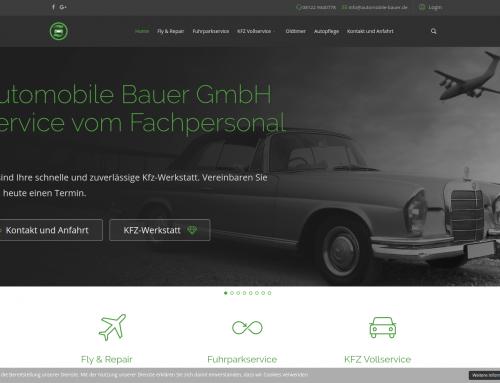 Webpräsenz mit Ansage – Automobile Bauer Joomla