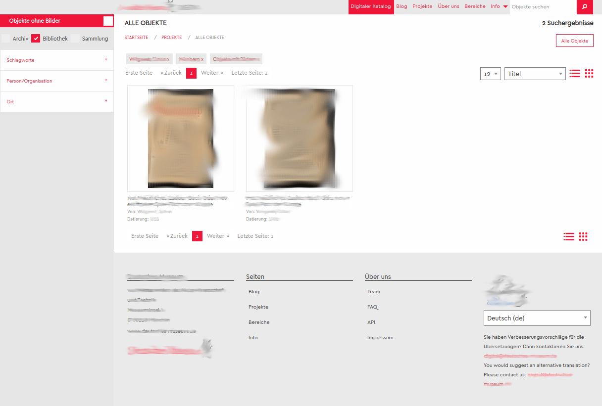 Web-Developer Digitalisierungsportal für Archiv Museum Bibliothek