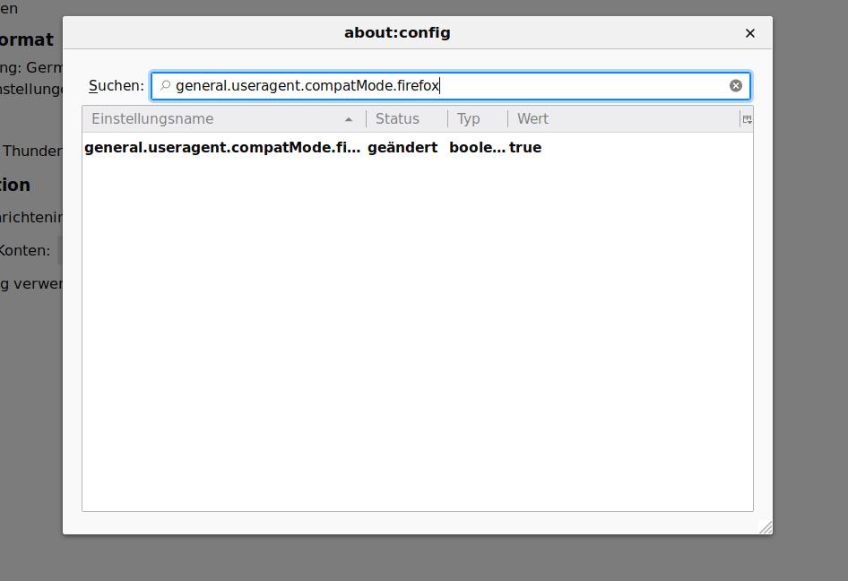 Mozilla Thunderbird OAuth2 Problem beim speichern